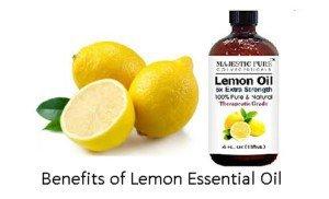 benefits of lemon essential oil